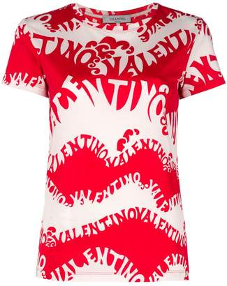 Valentino waves jersey T-shirt