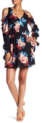 Charles Henry Cold Shoulder Floral Dress $98 thestylecure.com