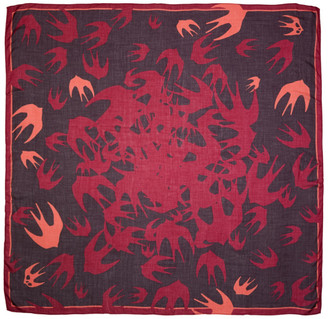 McQ Alexander McQueen Purple & Pink Swallow Swarm Scarf $150 thestylecure.com