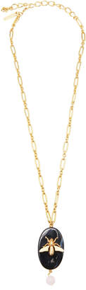 Oscar de la Renta Gold-Tone Metal Pendant Chain Necklace