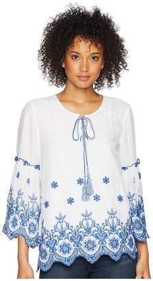 a2f413914f1cc ... Karen Kane Embroidered Bell Sleeve Top Women s Clothing