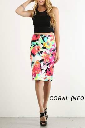 Lara Floral Pencil Skirt