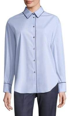 Piazza Sempione Pleated Back Button-Down Shirt