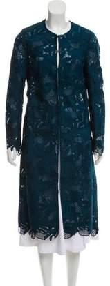 Lela Rose Guipure Lace Long Coat