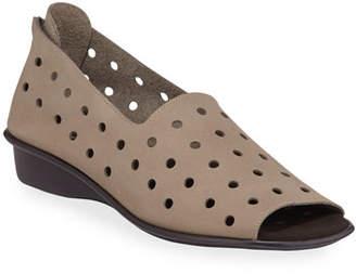 Sesto Meucci Edwina Perforated Demi-Wedge Sandals