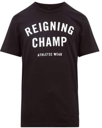 Reigning Champ Logo Print Cotton Jersey T Shirt - Mens - Black