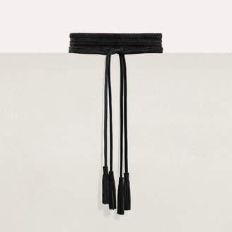 Maje High-waisted suede belt
