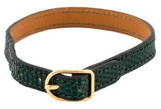 Hermes Green Lizard Bracelet