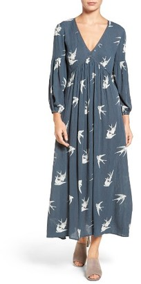Women's Hinge Print V-Neck Maxi Dress $89 thestylecure.com