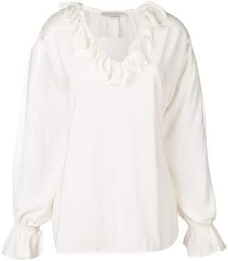 Stella McCartney ruffled neckline blouse