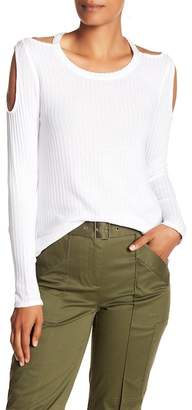 Chaser Cold Shoulder Waffle Knit Tee