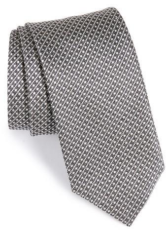CanaliMen's Canali Geometric Silk Tie