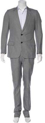 Christian Dior Micro-Houndstooth Two-Piece Suit