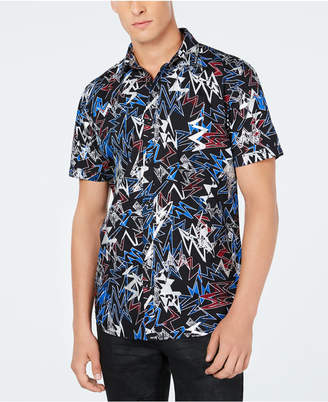 INC International Concepts Inc Men's Bolt Printed Shirt, Created for Macy's