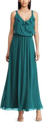 Chaps Women's Ruffle Maxi Dress