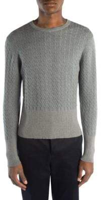 Thom Browne Baby Cable Crewneck Sweater