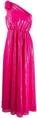 MSGM one shoulder midi dress