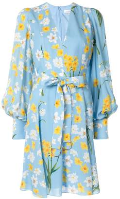 Andrew Gn floral print belted dress