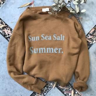 Clayton My Sunday Morning - Tierra Sun Cotton Fleece Sweater - 0 - Copper/Teal