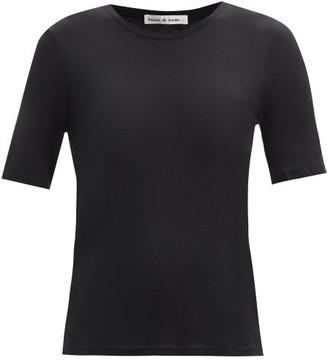 Frances De Lourdes - Martin Round Neck Cashmere And Silk Blend T Shirt - Womens - Black