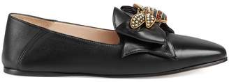 Gucci Leather ballet flat with bow