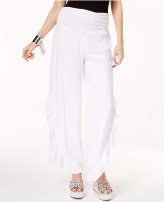 Thalia Sodi Ruffled Wide-Leg Pants, Created for Macy's