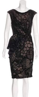 J. Mendel Velvet Patterned Dress