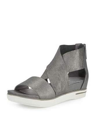 Eileen Fisher Sport Leather Sneaker Sandal, Pewter $195 thestylecure.com