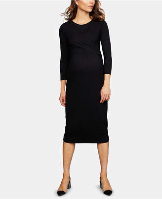 Isabella Oliver Maternity Twist-Front Dress