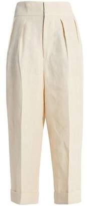Marni Cropped Linen Wide-Leg Pants