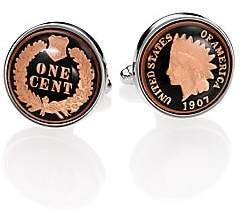 David Donahue Men's Authentic Indian Head Coin Cuff Links