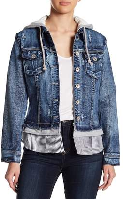 Live A Little Hooded Denim Jacket