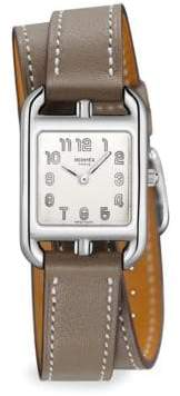 Hermes Cape Cod, Stainless Steel& Leather Strap Watch