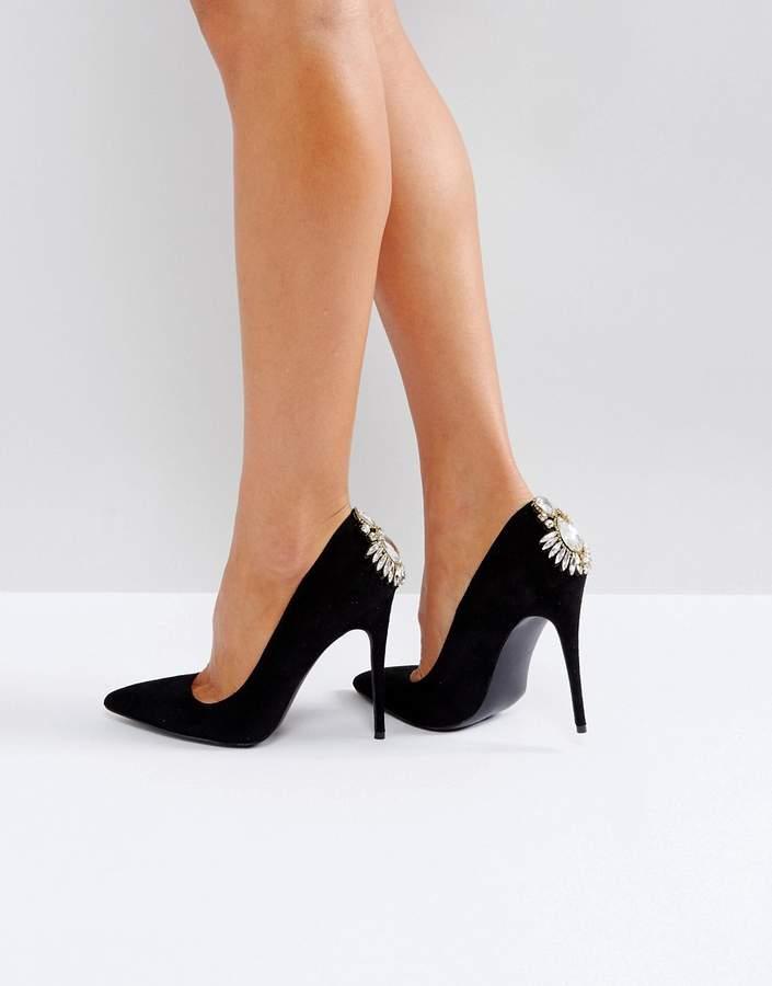 Boohoo Embellished Heeled Court Shoe