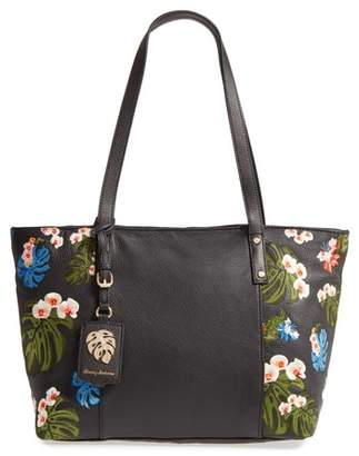 Tommy Bahama Cozumel Floral Embroidered Leather Tote