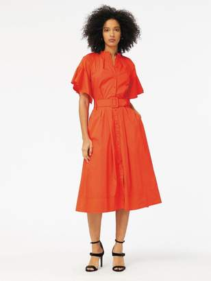 Oscar de la Renta Stretch-Cotton Poplin Dress