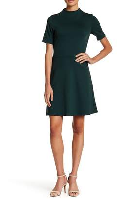 Vanity Room Short Sleeve Ponte Fit & Flare Dress