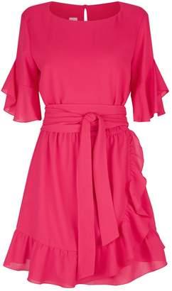 Pinko Asymmetric Ruffle Dress