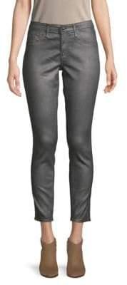 AG Jeans Leatherette Crinkle Coated Ankle Leggings