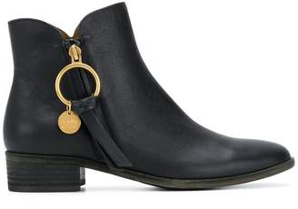 See by Chloe coin zipped booties