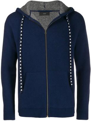 Alanui paisley intarsia zipped hoodie