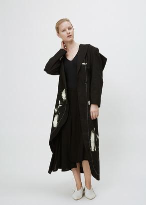 Yohji Yamamoto black stole collar long jacket $4,200 thestylecure.com