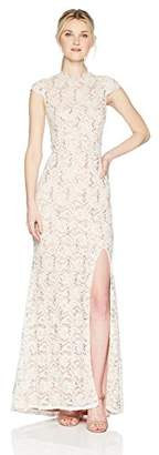 Jump Junior's Long Slim Sequin lace Gown