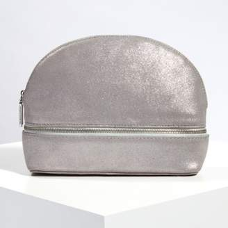 The White Company Suede Sparkle Make-Up Bag