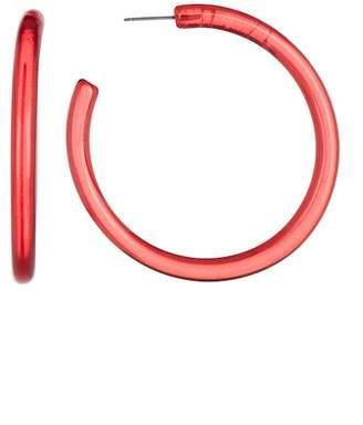 Ettika Burgundy Lucite Simple Hoop Earrings