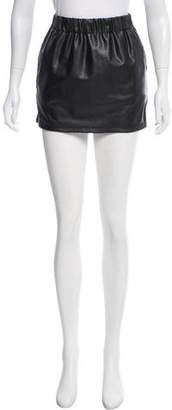 Plein Sud Jeanius Mini Faux Leather Skirt