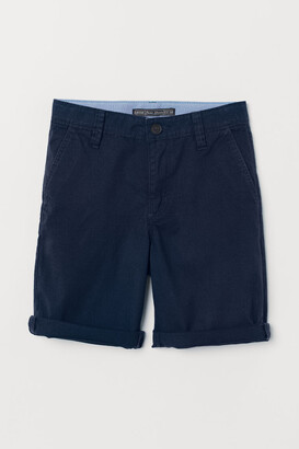 H&M Generous Fit Chino Shorts - Blue
