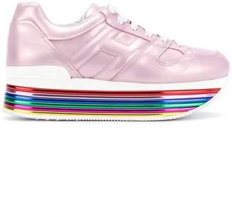 Hogan rainbow platform sneakers