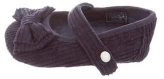 Ralph Lauren Girls' Corduroy Bow-Tie Slippers