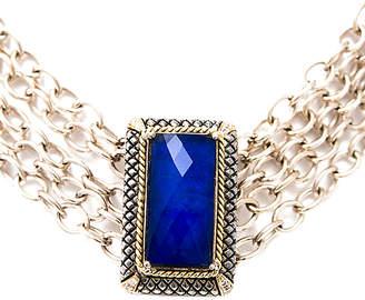 Candela Andrea Ibiza 18K & Silver 0.10 Ct. Tw. Diamond & Lapis Necklace